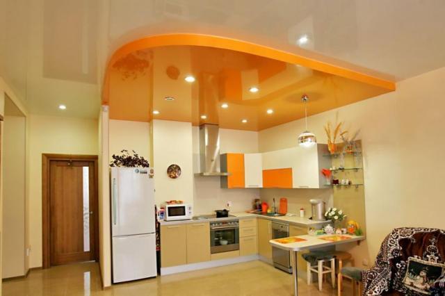 Натяжной потолок на кухне в Волгограде и области