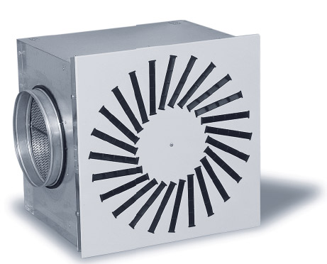 Системы вентиляции. Вихревые диффузоры