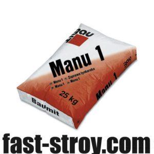 Штукатурка цементно-известняковая Baumit Manu, 25 кг