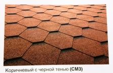 Битумная черепица ICO PAL GONTY ORLA SBS Трапеция PL (СМ3) коричневый с черной тенью - 894