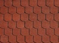 Битумная черепица IKO SUPERGLASS  BIBER Tile Red - 1077