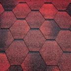 Битумная черепица Tеgola Супер, мозаик (красный гранит) - 1343
