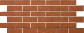 Цокольный сайдинг Docke Фасадные панели коллекции Berg Ziegelberg кирпичный  (кирпич) - 678