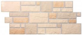 Цокольный сайдинг Docke Фасадные панели коллекции Burg Leinburg льняной ( камень ) - 463