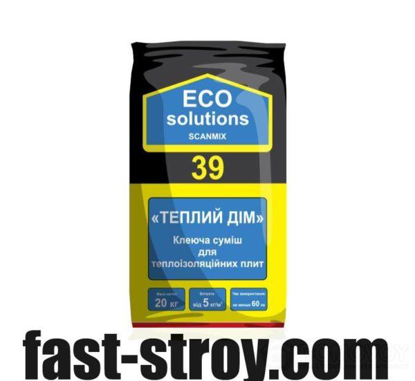Клей для приклеивания ECO Solutions 39 Теплый дом 20 кг