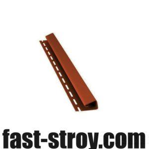 J-профиль для софита коричневый, 4м