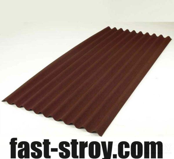 Лист ондулина коричневый 2000x950мм