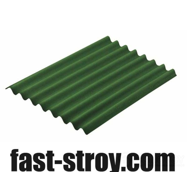 Лист ондулина зеленый 2000x950мм
