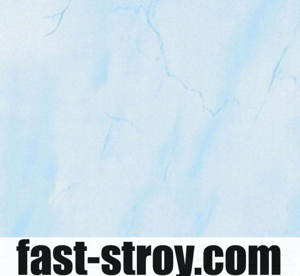 Пластиковая панель голубой мрамор 6000x250x8мм