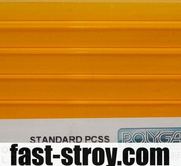 Поликарбонат Polygal оранжевый 6мм 2,10x6м