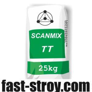 Штукатурка Scanmix TT фасадная стартовая до 20мм серая 25кг