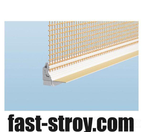 Примыкающий профиль для оконных и дверных откосов с сеткой 2,5 м (6мм) Capatect Laibungsprofile