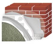 Утепление фасада POLIMIN (Полимин) Миниральный Короед зерно 2,5 мм (цвет белый) + ПСБС 100 мм - 736