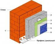 Утепление фасада POLIMIN (Полимин) пенопластом 50 мм - 704